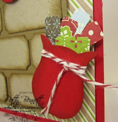 #owl builder punch #stampin up love the sack of presents ... perfect for Christmas scrapbook page
