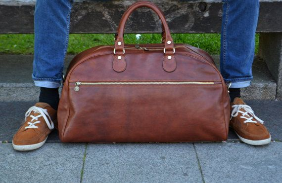 Leather Duffel Bag,Leather Travel Bag,Weekend bag,Gym Bag,duffel bag,Leather duffle bag,women duffel bag,men duffle bag-The New York Trilogy