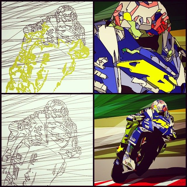 Story Of 90x90 Cm My Vectorial Portrait Of Valentinorossi Vr46