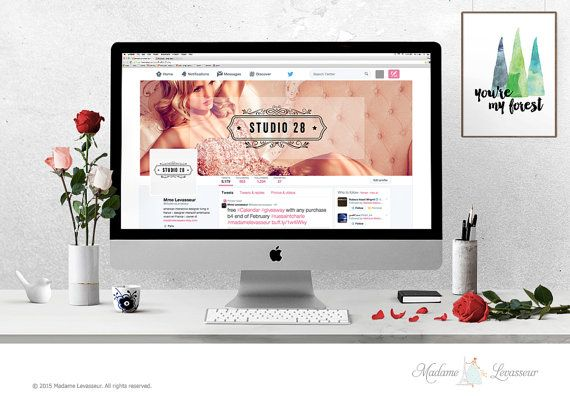 Wordpress header design Facebook cover Twitter Cover Design Website Header Blog Header premade logo design branding mockup hero header logo