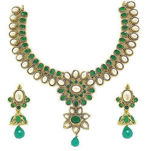 Elegant Indian Bollywood Green & White Pearls Gold Plated... https://www.amazon.com/dp/B01MUH87O1/ref=cm_sw_r_pi_dp_x_RLxLybGV40V4F
