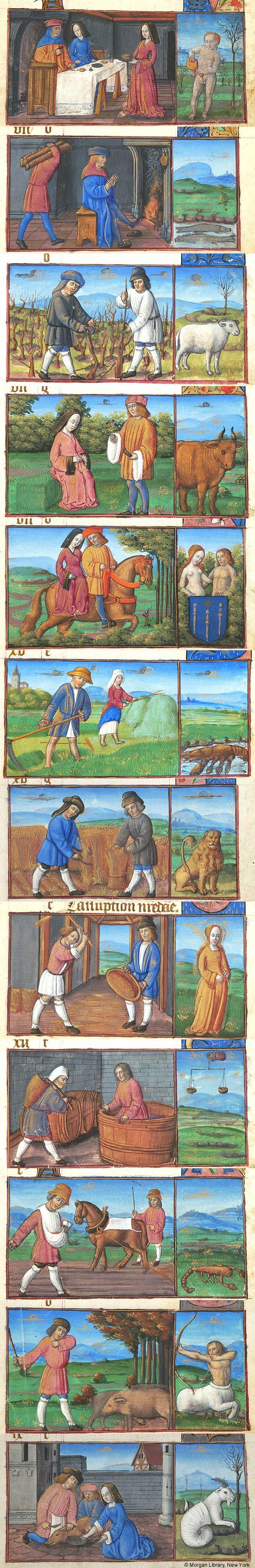 Signs of the Zodiac | Book of Hours | France, Langres | 1495-1500 | The Morgan Library & Museum