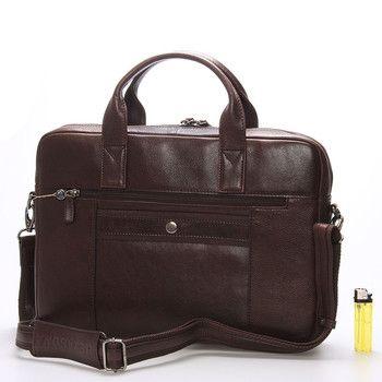 """#Hexagona  Elegantní unisex taška na notebook a papíry. Taška je příjemně úzká, velice dobře se nosí jak v ruce tak i přes rameno. Součástí je odnímatelný nastavitelný popruh s koženým polstrováním. Uvnitř jsou přihrádky na mobil, tužky, vizitky. V hlavní kapse je jedna přihrádka na notebook o max. rozměrech 35 x 25 cm (13""""). Na zadní straně je jednak kapsa na zip, ale také kapsa na provlečení madla cestovního kufru."""