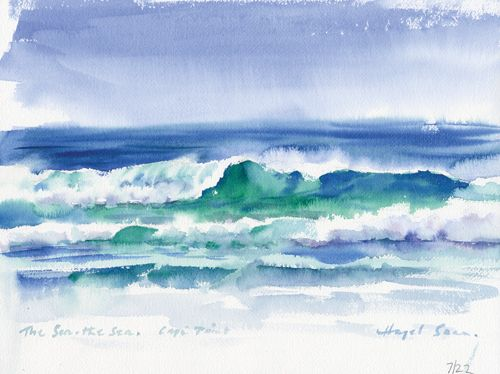 A Less-Is-More Approach for Painting Atmospheric Sea and Sky Landscapes | Hazel Soan