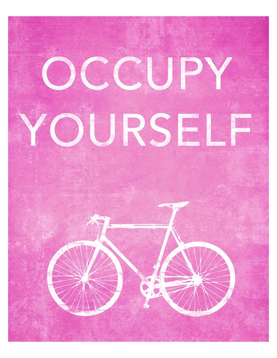 8x10 Occupy Yourself Bicycle Print by FalcorDigital on Etsy, $15.00