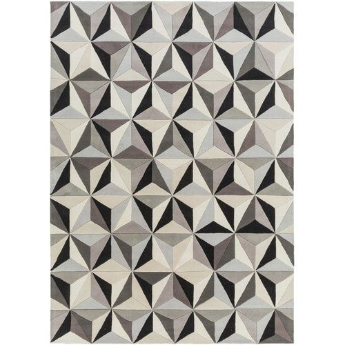 Kaleidoscope Dhurrie Rug Makes A Chic Centerpiece For Room With Its Hues Of Black Grey And Ivory Hand Woven Pure Wool Fl