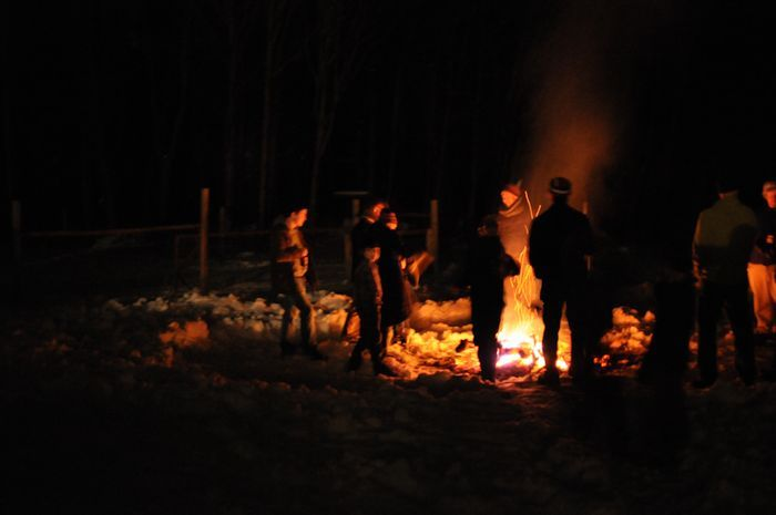 bonfires with friends + family + new folks.
