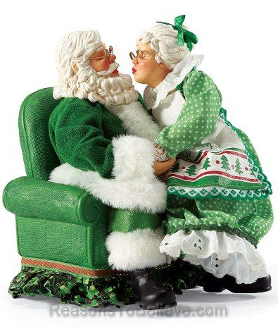 Irish - All I Want For Christmas.  Mr and Mrs Santa Claus kissing because after all,... they are Irish.