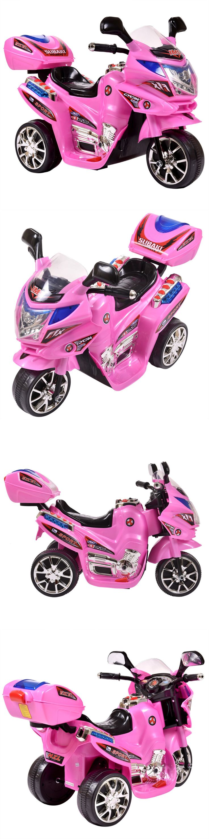 Ride On Toys and Accessories 145944: 3 Wheels Power Motorcycle Battery Powered Kids Ride On Baby Car Pink 6V -> BUY IT NOW ONLY: $46.99 on eBay!