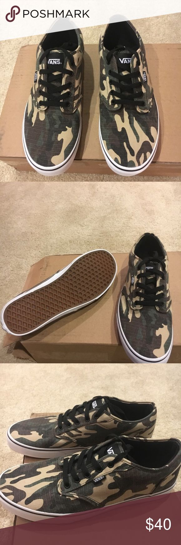 Vans Camo skate Vans Camo skate Men's size 11.5 White/Camo  Brand new/box Vans Shoes Sneakers
