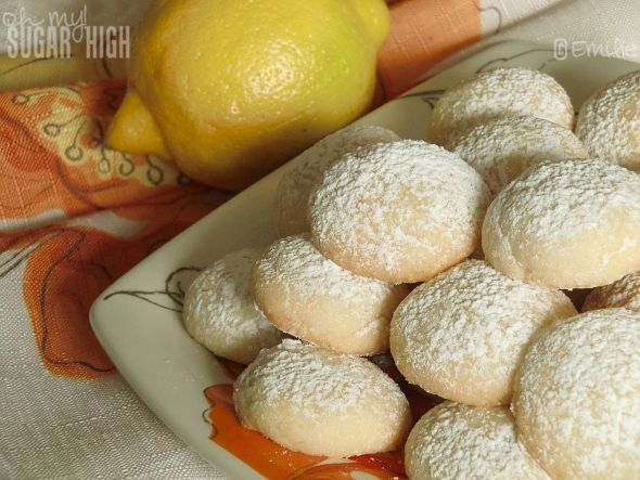 Lemon Drop Cookies...dainty, little melt in your mouth...good with tea cookies..