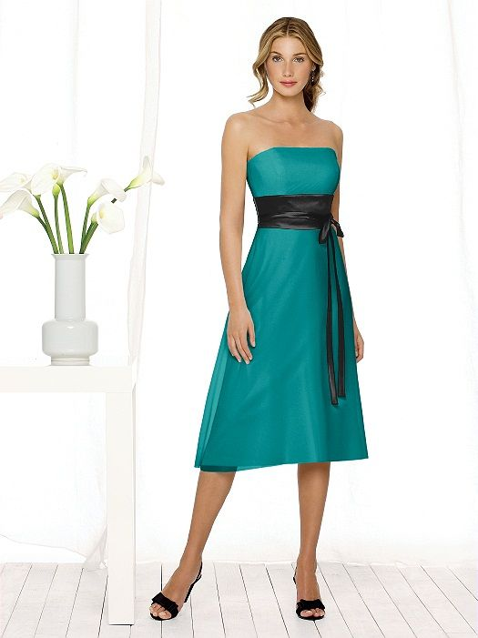 Tubetop Black And Turquoise Bridesmaid Dress Clothes Bridesmaid