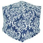 Outdoor Navy Blue French Quarter Large Ottoman - modern - ottomans and cubes - by Majestic Home Goods.  $100