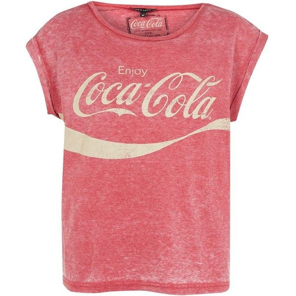 Red Coca-Cola Burnout T-Shirt found on Polyvore