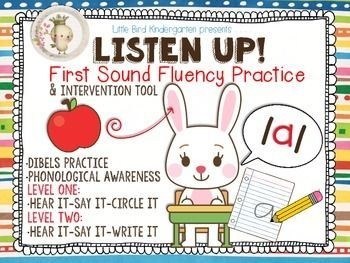 Listen Up! First Sound Fluency Practice & DIBELS Intervent