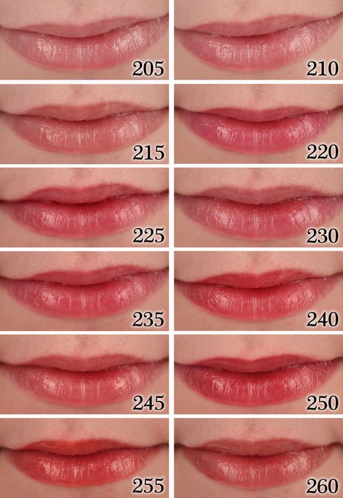 Revlon Super Lustrous Lipgloss Swatches 205 Snow Pink, 210 Pinkissimo, 215 Super…
