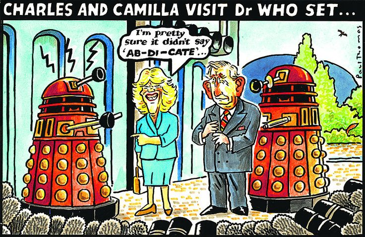 4 July 2013 - Charles and Camilla visit the Dr Who centre in Cardiff.