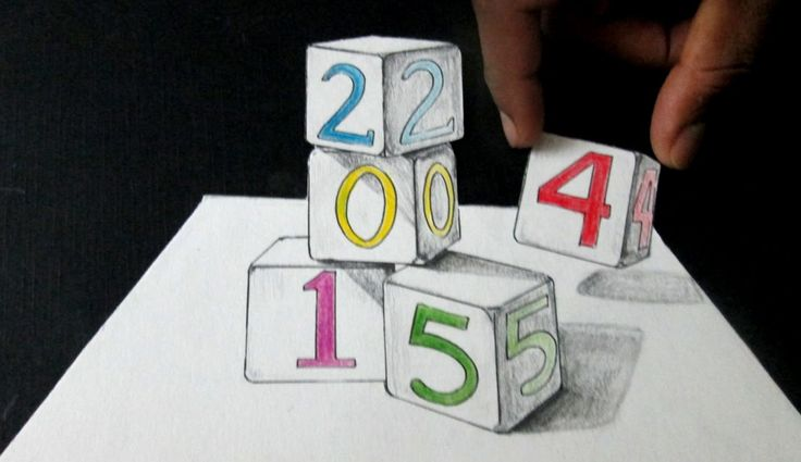 How To Draw 3D Cubes/ Anamorphic Illusion/ 3D Art On Paper