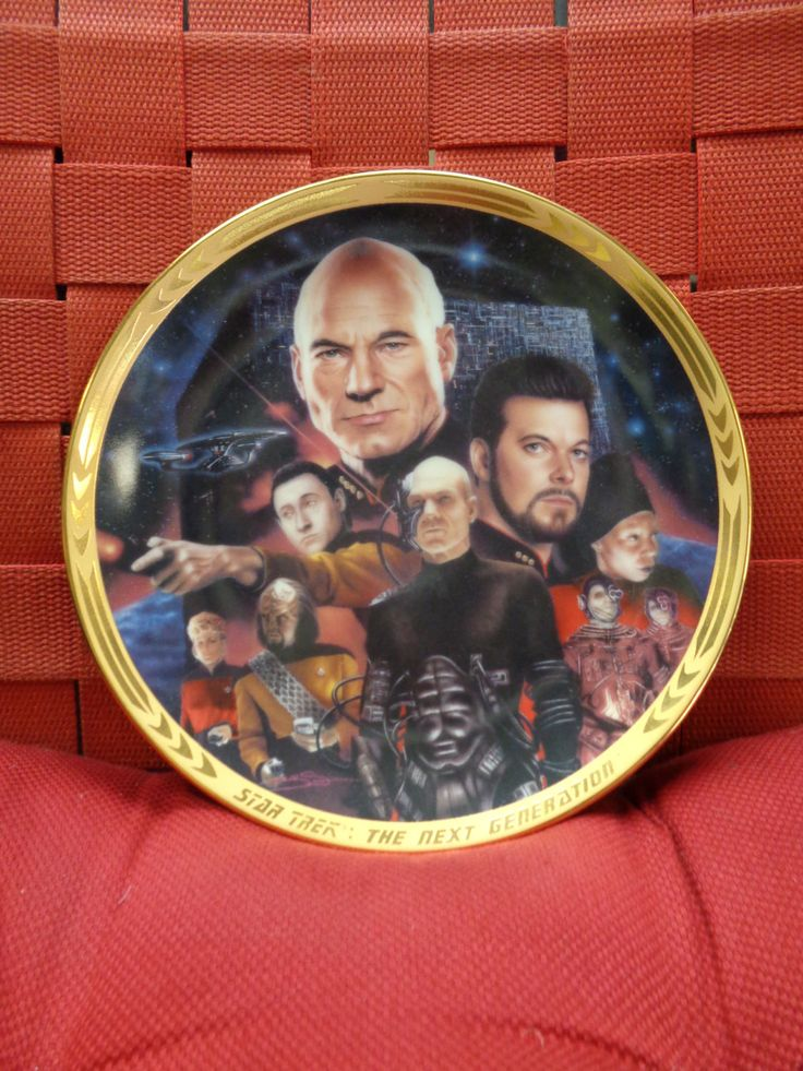 STAR TREK,The Next Generation,Best Both Worlds,Patrick Stewart,Jonathan Frakes,Whoopi Goldberg,BORG,Hamilton,Limited Ed Collectors Plate