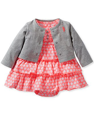 Carter's Baby Girls' 2-Piece Cardigan & Dress Set - Kids Newborn Shop - Macy's
