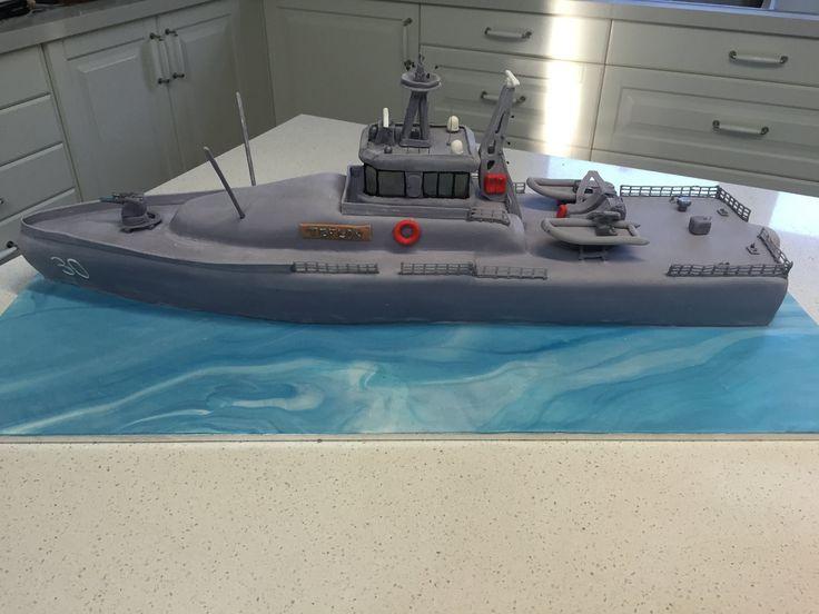 Australian Navy Patrol Boat cake
