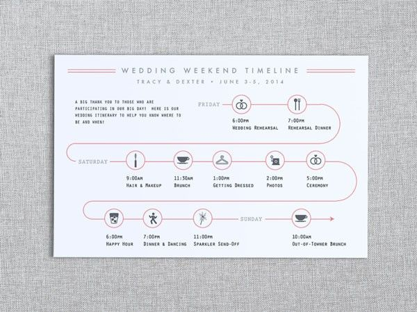This Timeline Is The Perfect Touch To Any Invitation Suite See Everything You Should