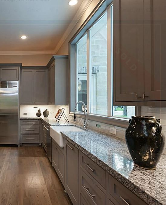 "Gray Granite Kitchen: Stonecraft ""White Sparkle"" Granite 3cm Countertops From"