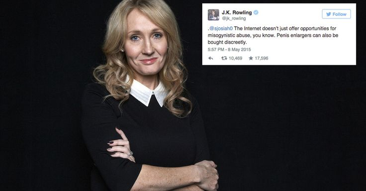 A collection of 'Harry Potter' author J.K. Rowling's best comebacks, takedowns and jokes on Twitter.