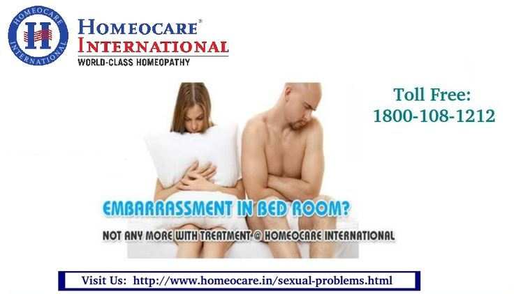 Sexual dysfunction can be effected men and women. In men sexual problems may include with low sperm count, due to emotional and mental stress, lack of interest. Women faced these problems due to low libido, Hormonal imbalance, menstrual and PCOS. Homeopathy treatment for sexual problems will cure and give long lasting relief from sexual disorder. Homeocare International provides the sexual treatment in Homeopathy with the advanced approach through Homeopathy.