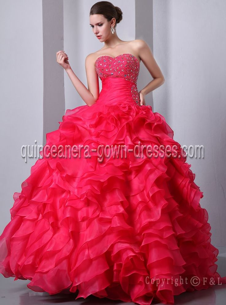 2013 Fuchsia Beaded Pretty Ball Gown Quinceanera Dresses ...