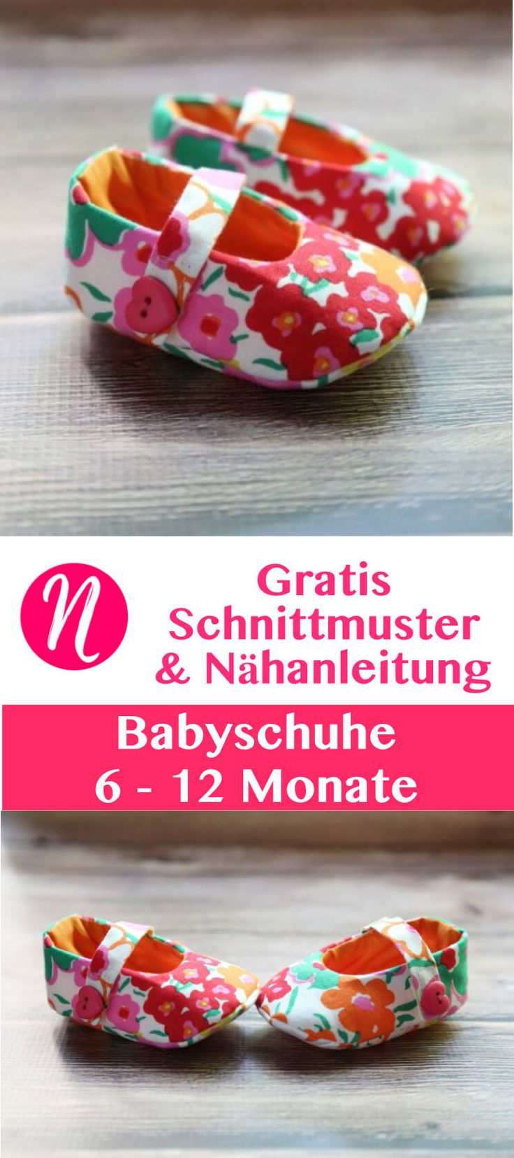 Babyschuhe Freebook – zum selber nähen – 6 – 12 Monate