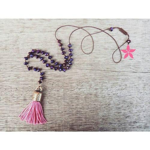 Purple Crystal Rosary Fuchsia Tassel Necklace  #twininas #twiniñas #rosary #collection #crystal #stones #crystal #purple #fuchsia #tassel #adjustable #size #closure #jewelry #fashion #girls #loveit #summergirls #ss15 #necklaces  (στην τοποθεσία Athens, Greece)