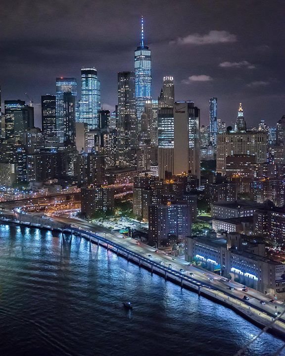 Nyc Skyline At Night Ny City City Landscape New York Pictures