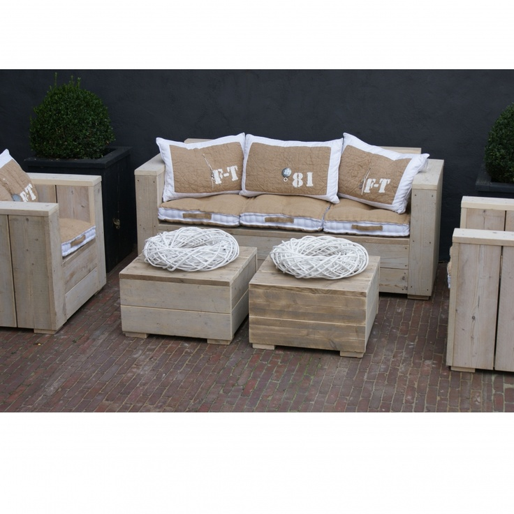 117 best Steigerhout banken images on Pinterest Woodworking - lounge set design garten diy