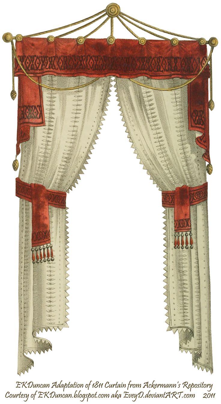 Red velvet window curtains - 1811 Velvet Trimmed Curtain Teal By Eveyd On Deviantart