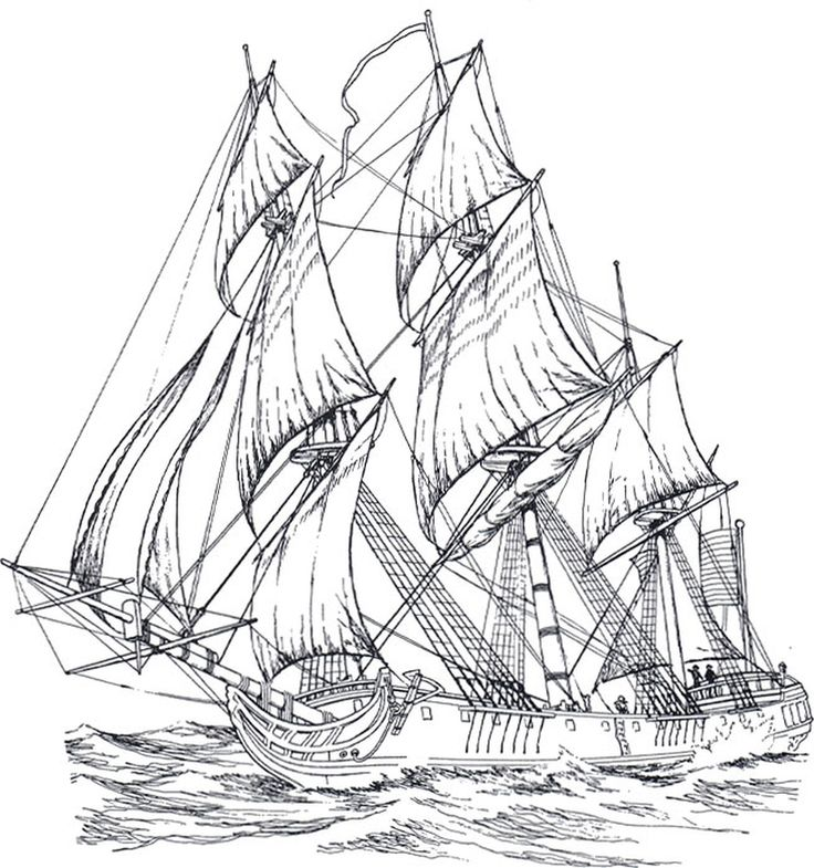 british sailing warship coloring pages - photo#11