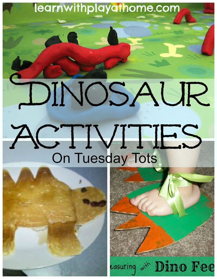 Learn with Play @ home: Dinosaur Activities on Tuesday Tots for my Fer...