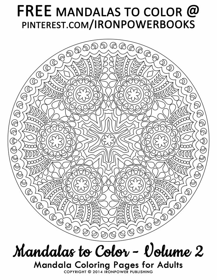FREE Mandala Coloring Pages From The Book Of Ironpower Publishings Mandalas To Color Volume 2 At