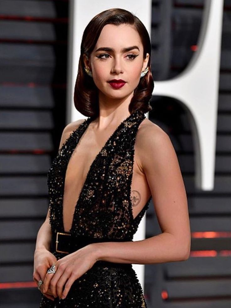 ... Lily Collins on Pi...