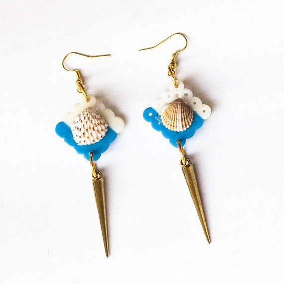 Greek Seashell Square Earrings