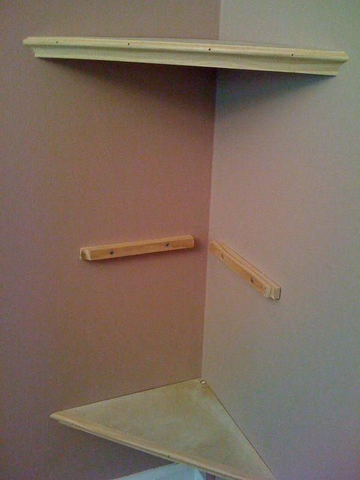 Build a corner wall shelf woodworking projects plans for Wood craft shelves