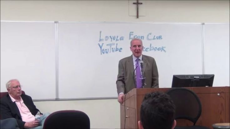 Peter Schiff and Doug Casey at the Loyola Economics Club