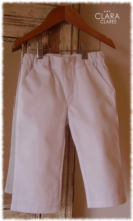 Pantalones : pantalon de gabardina blanco, pantalon de bebe, pantalon de niño, pantalon de nene, conjunto de bautismo, traje de bautismo, ropa de bautizo, fabricantes de ropa de bebes y niños
