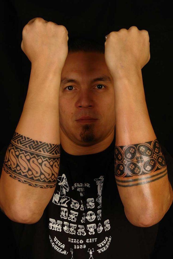 Private parts tattoo for men - Tribal Polynesian Tattoos On Forearm Photo 1