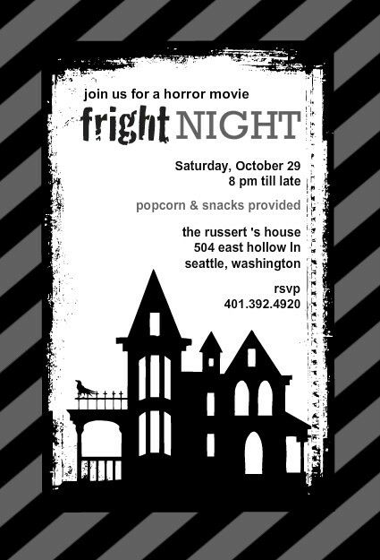 10 best Social Committee images – Scary or Horror Invitation Cards