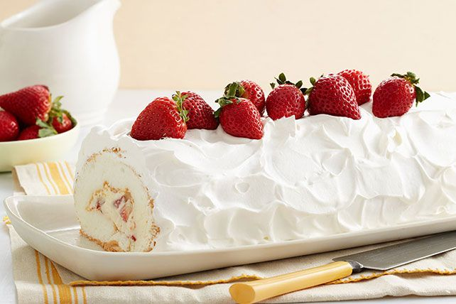 Make this Heavenly Strawberry Jelly Roll for a sweet treat at yur next gathering. This jelly roll will also double as a centerpiece for a special occasion.