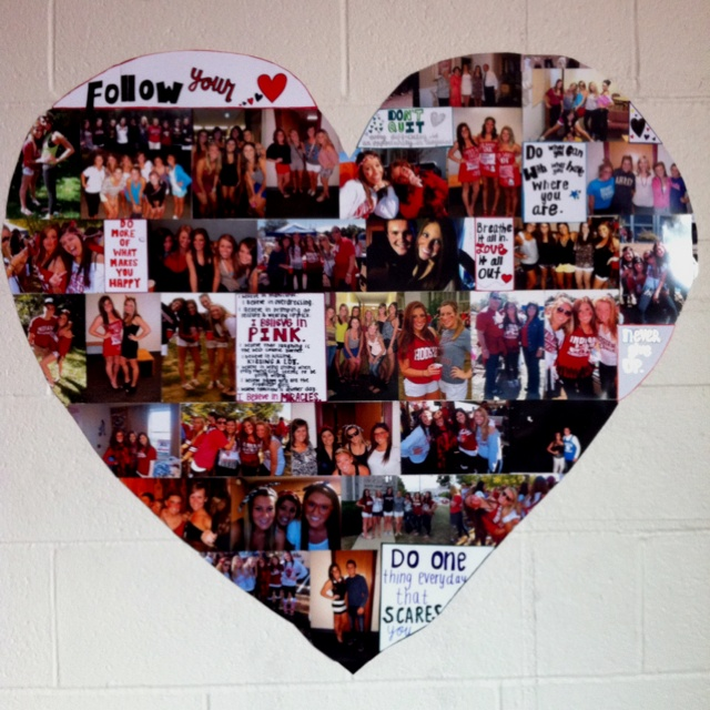 Heart picture & quote collage