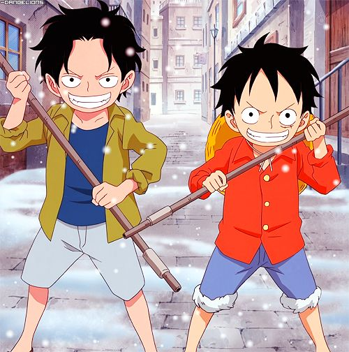 Luffy and Ace one of the best anime siblings ever