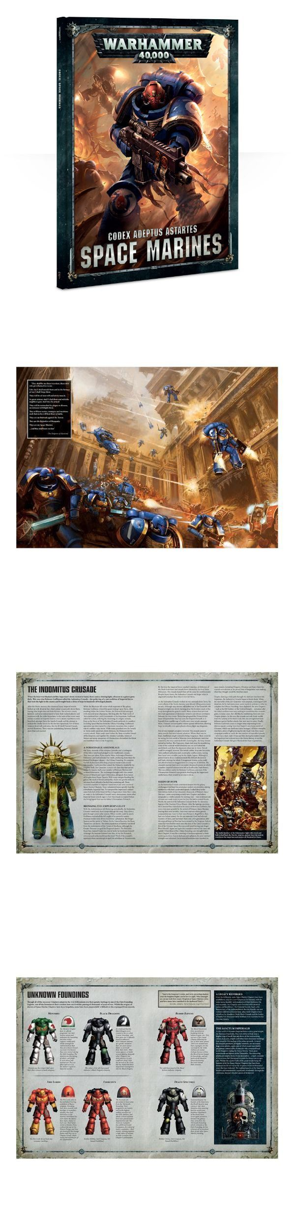 40K Rulebooks and Publications 90944: Games Workshop Warhammer 40,000 8Th Edition Codex Space Marines Free Shipping -> BUY IT NOW ONLY: $42.5 on eBay!
