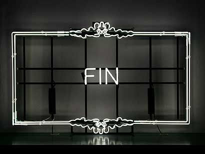 Ornate 'Fin' neon sign | art | design